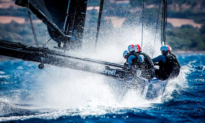 Day 1 – A wet ride in windy Calvi – GC32 Orezza Corsica Cup © Jesus Renedo / GC32 Racing Tour