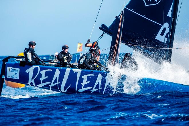 Day 1 – Realteam, overall leader – GC32 Orezza Corsica Cup © Jesus Renedo / GC32 Racing Tour