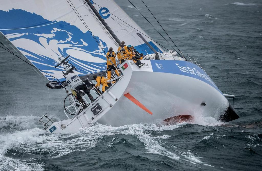 Leg Zero, Turn the Tide on Plastic compete in the Around the Island Race. Volvo Ocean Race. 02 August, 2017 ©  Ainhoa Sanchez/Volvo Ocean Race