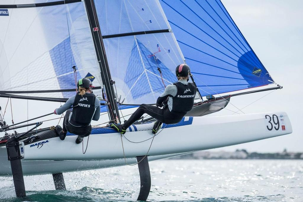 Gemma Jones and Jason Saunders - Day 2, Nacra 17 Worlds La Grande Motte, France - photo © Nacra 17 World Championship