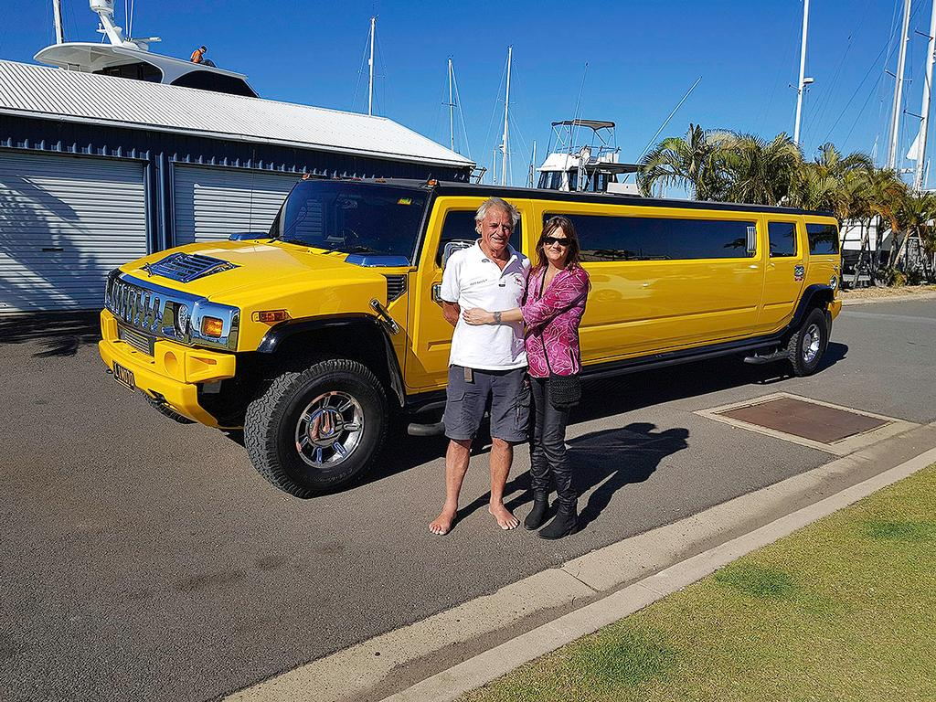 Maree Stainton with Jon in front of the Hummer © Maree Stainton