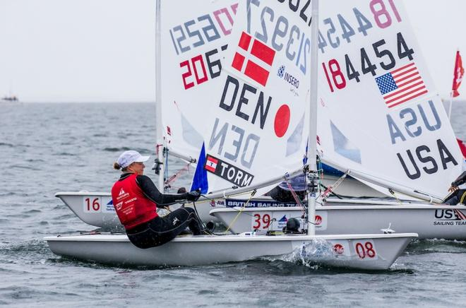 Anne-Marie Rindom (DEN) - W Laser Radial Champ – World Cup Sailing Series Japan ©  Jesus Renedo / Sailing Energy http://www.sailingenergy.com/