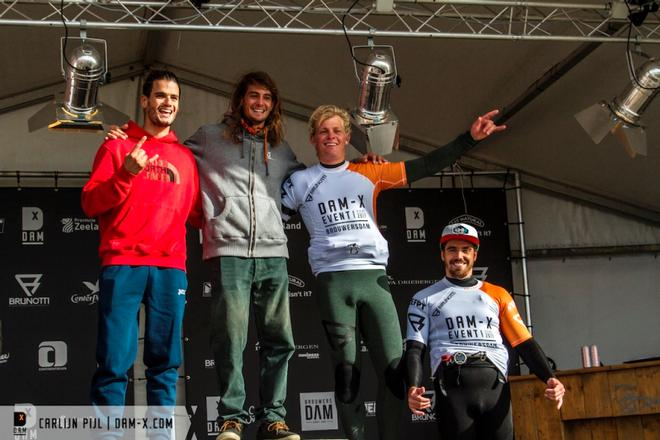 Day 1 – The top 4 after the single elimination – DAM-X EFPT Final ©  Carlijn Pijl / dam-x.com
