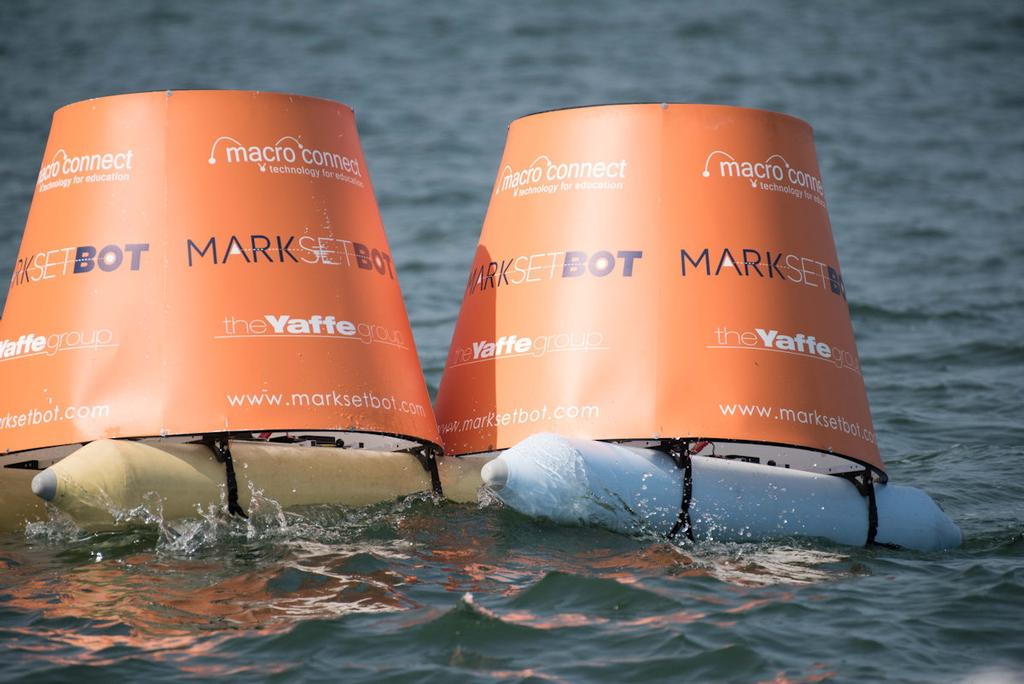 MarkSetBots in use at the recent Premiere Sailing League event at the Grosse Point Yacht Club © Paul Rand