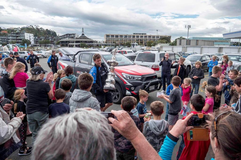 - Napier Sound Shell and Sailing Club - Emirates Team New Zealand with Toyota NZ Road show October 6-19, 2017 © Emirates Team New Zealand http://www.etnzblog.com