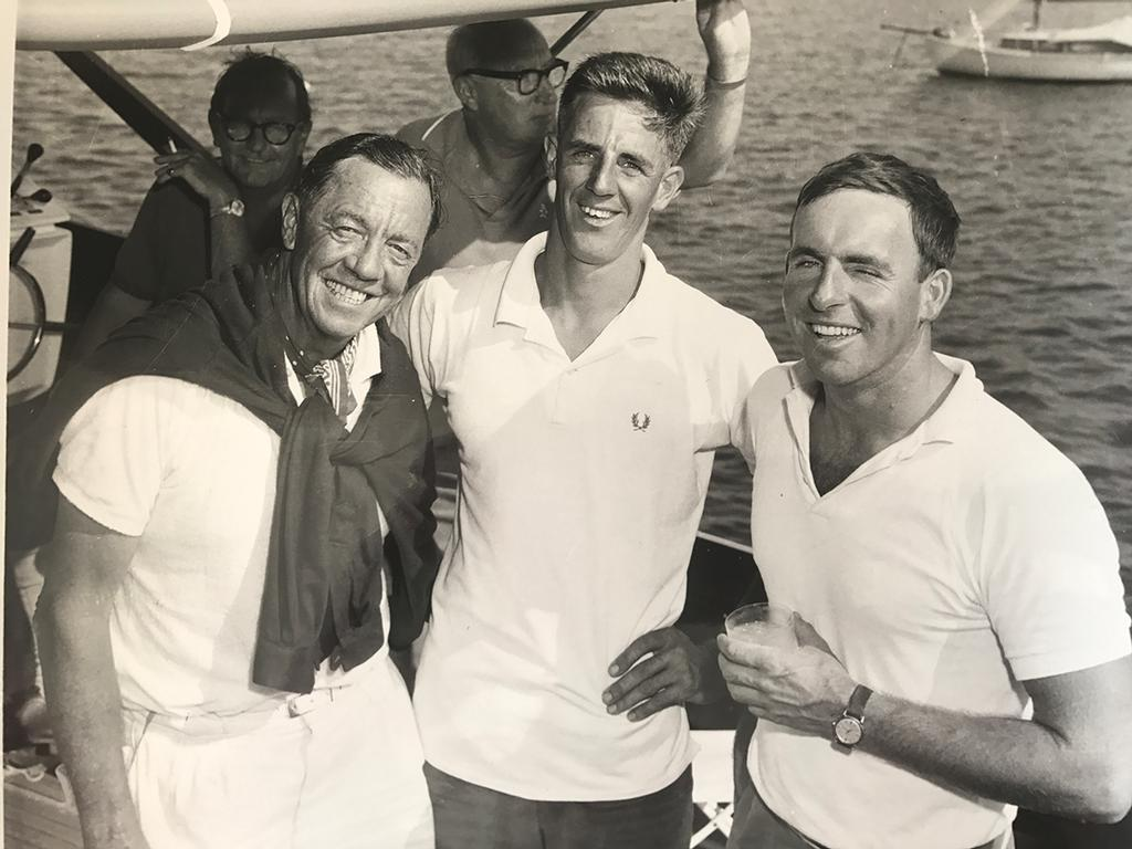 Bill Northam, Dick Sargeant & Peter O'Donnell at the Olympic trials on Lake Macquarie. - photo © Dick Sargeant