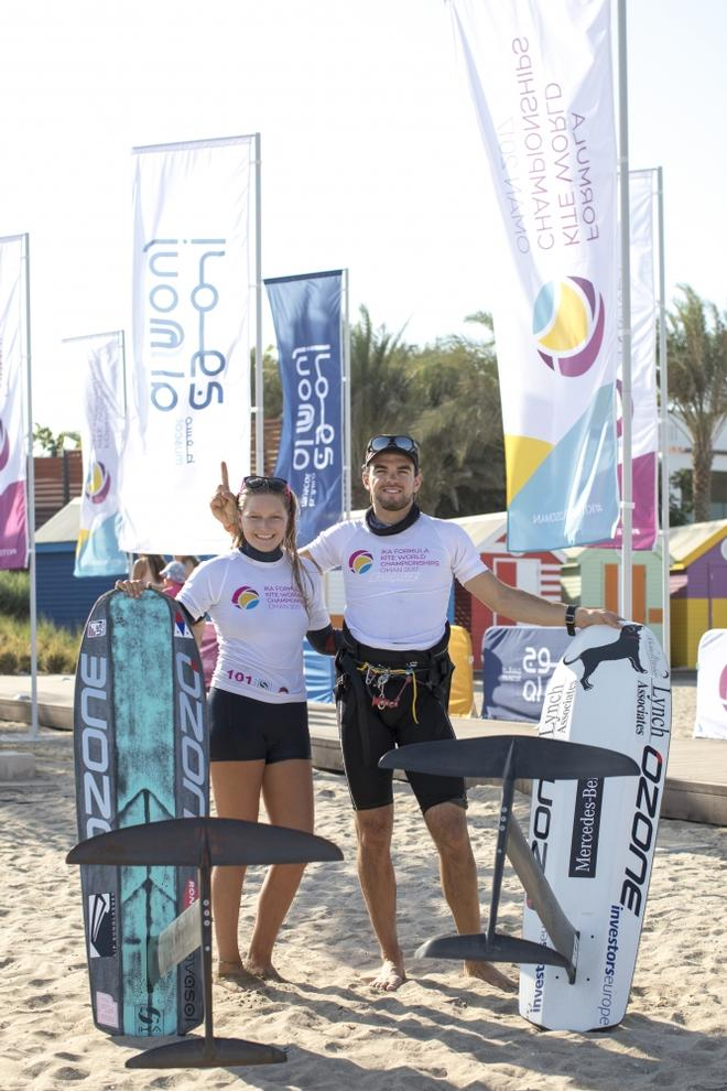 Day 5 – Nico Parlier and Daniela Moroz – Formula Kite World Championships Oman ©  Toby Bromwich