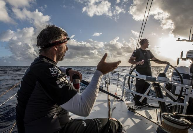 Day 4, Leg 2, Lisbon to Cape Town, on board Sun Hung Kai/Scallywag – Volvo Ocean Race ©  Konrad Frost / Volvo Ocean Race