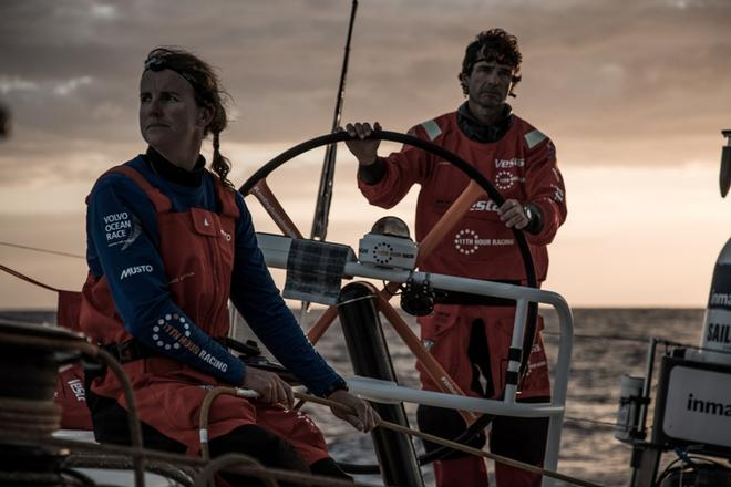 Day 4, Leg 2, Lisbon to Cape Town, on board Vestas 11th Hour – Volvo Ocean Race ©  Martin Keruzore / Volvo Ocean Race