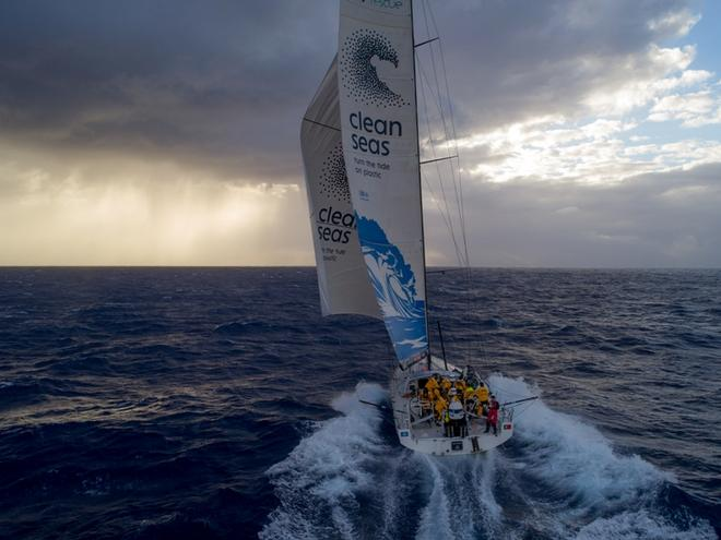 Day 2, Leg 2 – Lisbon to Cape Town, On board Turn the Tide on Plastic – Volvo Ocean Race ©  Sam Greenfield / Volvo Ocean Race