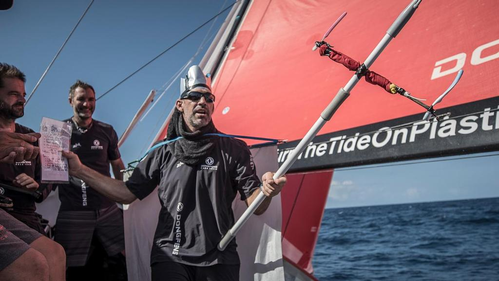 Leg 02, Lisbon to Cape Town, day 09, on board Dongfeng. Crossing the equator. Volvo Ocean Race. 13 November, 2017. ©  Jeremie Lecaudey / Volvo Ocean Race