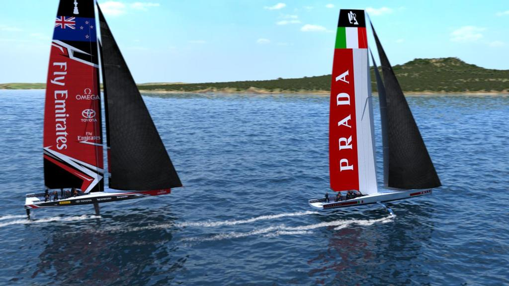 America's Cup AC75 - Code Zeroes will provide extra power to get foiling in light winds - photo © Emirates Team New Zealand www.etnzblog.com