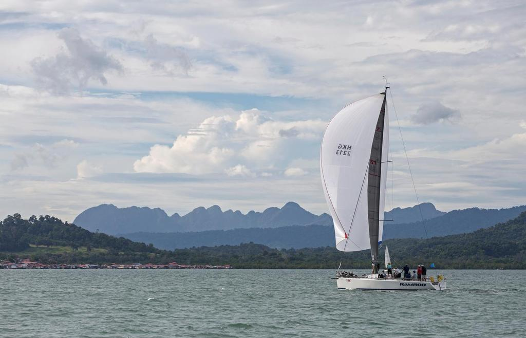 It's all about the scenery: Ramrod and the Macinchang Range. 2017 Raja Muda Selangor International Regatta. - photo © Guy Nowell / RMSIR