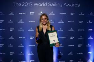 Marit Bouwmeester wins female Rolex WSOY photo copyright World Sailing taken at  and featuring the  class