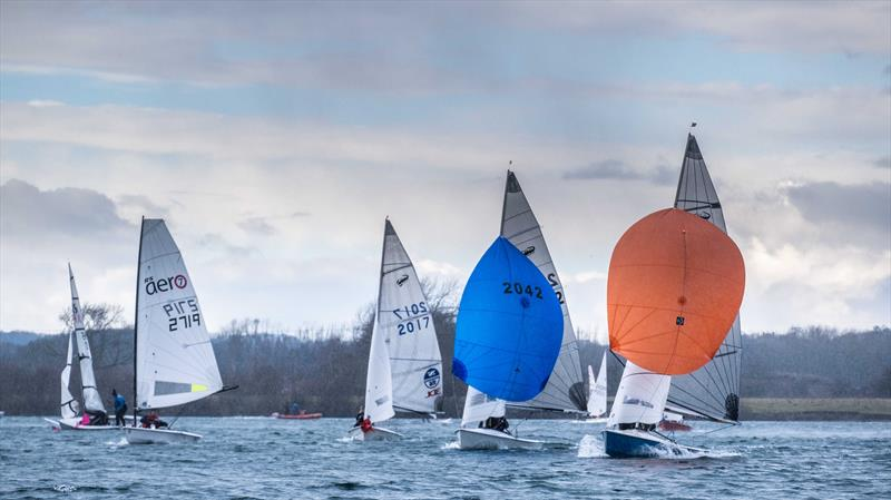 Reach in a squall during the Notts County Cooler 2019 photo copyright David Eberlin taken at Notts County Sailing Club and featuring the Scorpion class
