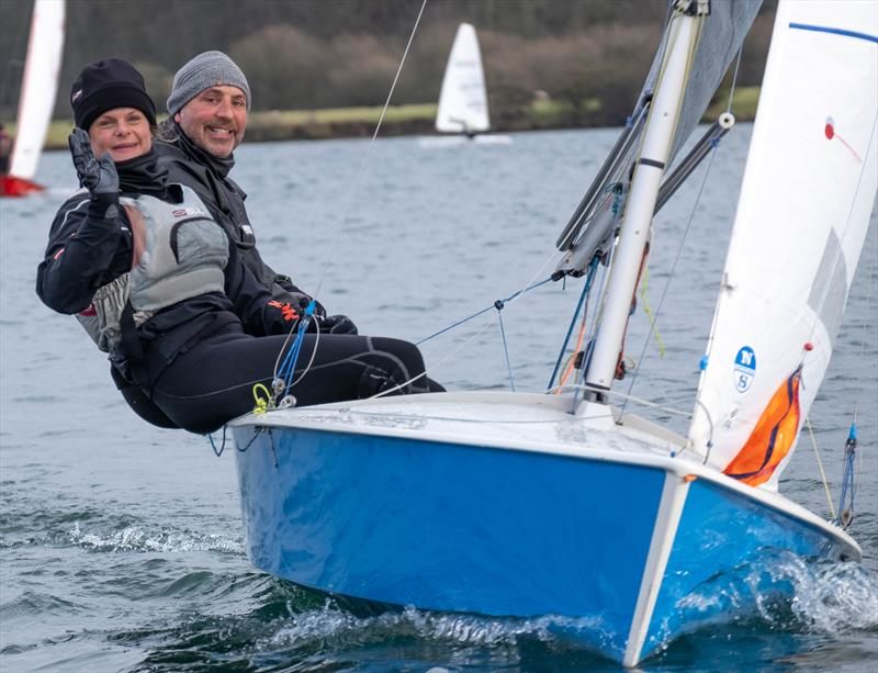 Grahame Newton & Rach Rhodes win the Notts County Cooler 2019 photo copyright David Eberlin taken at Notts County Sailing Club and featuring the Scorpion class