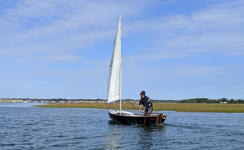 The 'dark lord' a.k.a. Andy Ash-Vie sailing his Scow at Keyhaven - photo © Mark Jardine