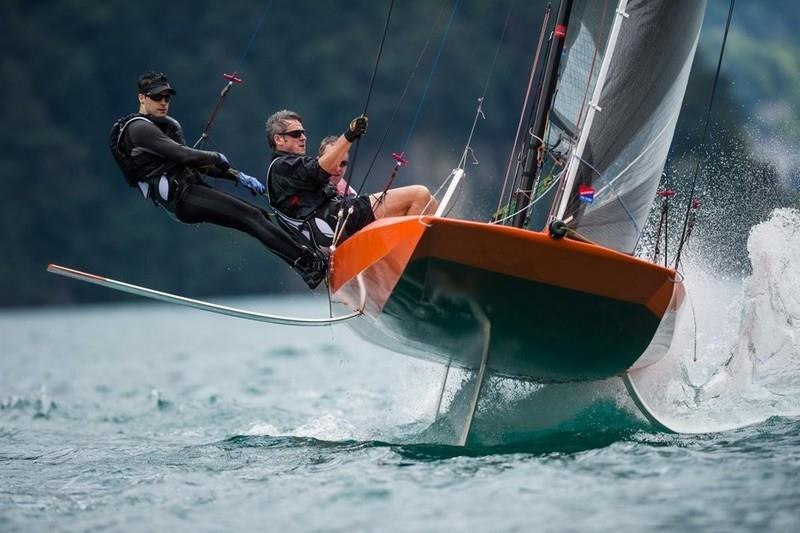 The success of Hugh Welbourn's Quant 23 suggests that the concept of the big scow was the way to go, albeit now with a high tech lightweight hull, modern rig and foils - photo © Quant Boats