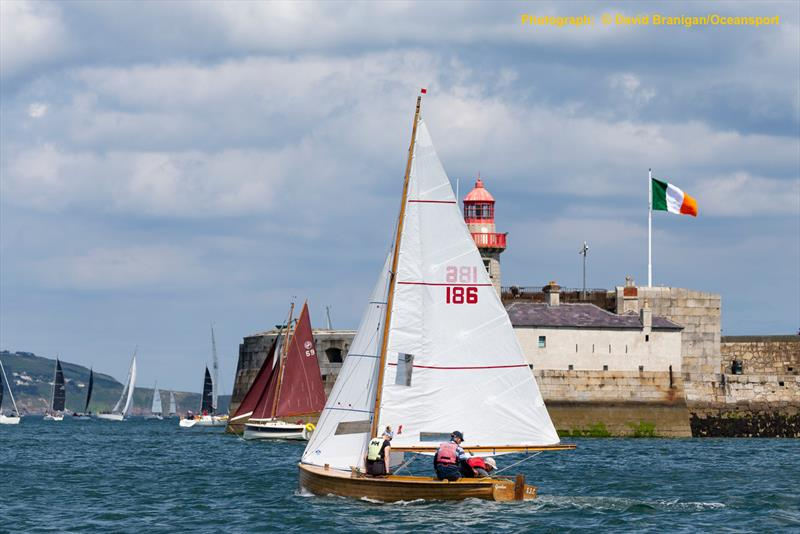 Brian McNally's Mermaid 'Gentoo' on the opening day of 500  boat Volvo Dun Laoghaire Regatta photo copyright David Branigan / www.oceansport.ie taken at Skerries Sailing Club and featuring the Seaview Mermaid class