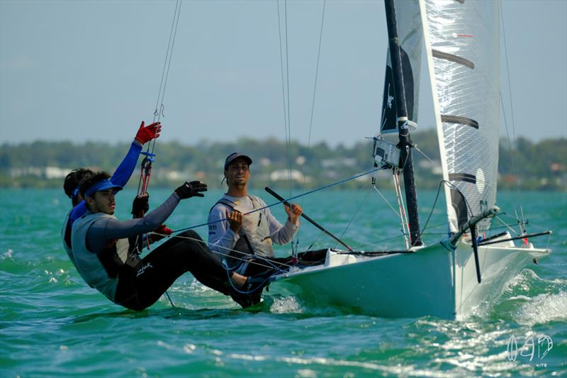Koreman Composites are sitting near the top after three races - photo © Mitchell Pearson / SurfSailKite