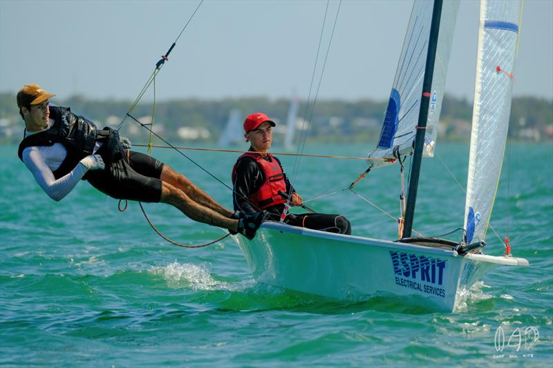 Local boat Esprit took out race 2 after a close fight with Bartley Construction - photo © Mitchell Pearson / SurfSailKite