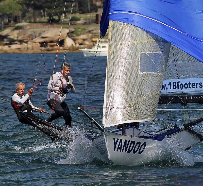 John Winning and Mike Kennedy show the strain of 18ft Skiff Racing during the 18ft Skiff JJ Giltinan Championship - photo © Frank Quealey