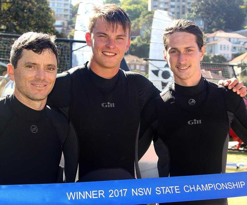 Tom Quigley (right) with Scott Babbage and Sam Ellis, after winning the NSW Championship on The Kitchen Maker - photo © Frank Quealey