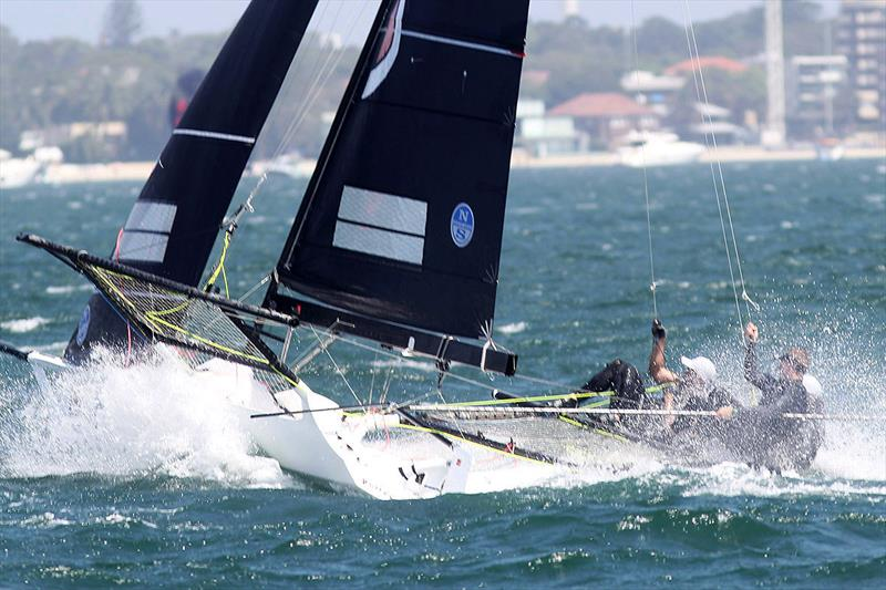 Vintec mark rounding on day 2 of the 18ft Skiff Australian Championship - photo © Frank Quealey