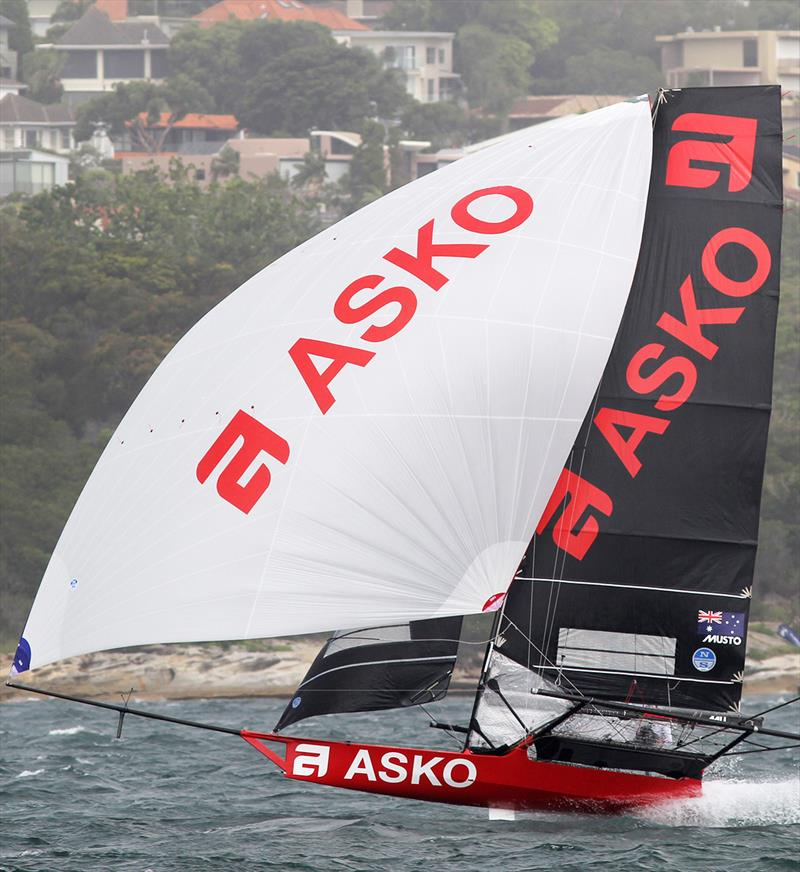 NSW champion Asko Appliances looking to bounce back after a costly gear problem in Race 3 in the 18ft Skiff Australian Championship - photo © Frank Quealey