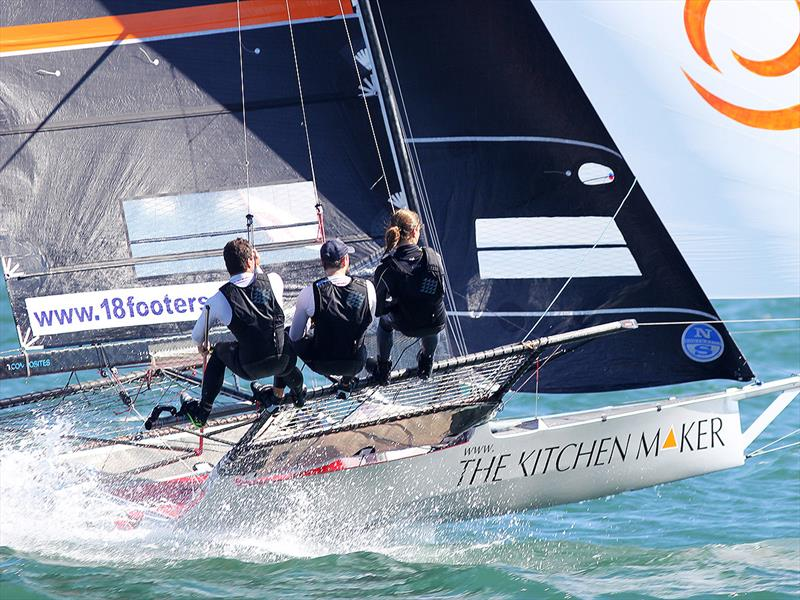 The Kitchen Maker-Caesarstone didn't have the best day but finished third overall in the 18ft Skiff Australian Championship - photo © Frank Quealey