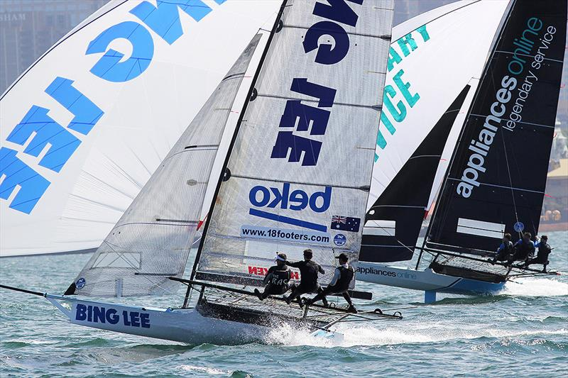 Bing Lee and Appliancesonline in action during Race 3 of the 18ft Skiff JJ Giltinan Championship - photo © Frank Quealey