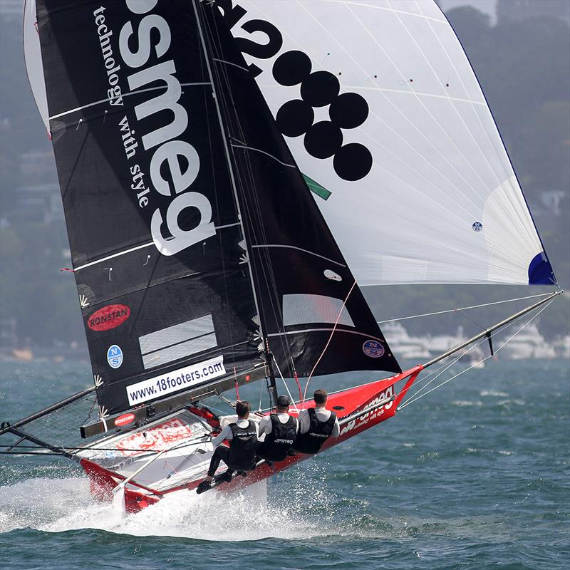 Brilliant exhibition of power sailing downwind by the Smeg crew - photo © Frank Quealey