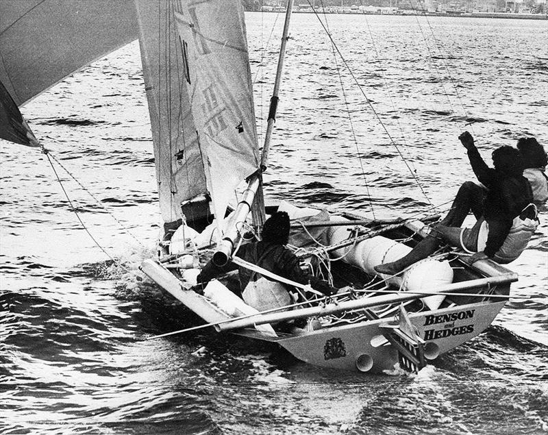 New Zealand's 18ft Skiff Racing Record: Russell Bowler's first Benson and Hedges - photo © Archive
