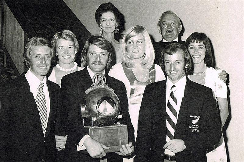 New Zealand's 18ft Skiff Racing Record: 1974, Travelodge New Zealand winning crew - photo © Archive