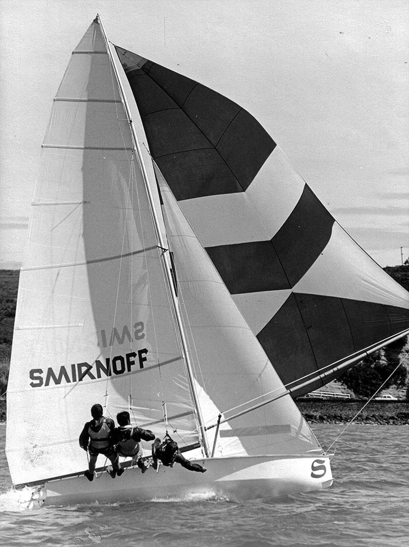 New Zealand's 18ft Skiff Racing Record: 1972, Don Lidgard's Smirnoff dominated the fleet on Brisbane's Waterloo Bay - photo © Archive
