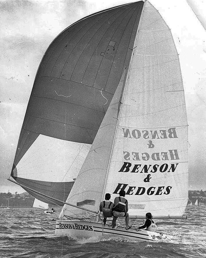 New Zealand's 18ft Skiff Racing Record: 1977, Russell Bowler's Benson and Hedges pioneered the new method of construction - photo © Archive