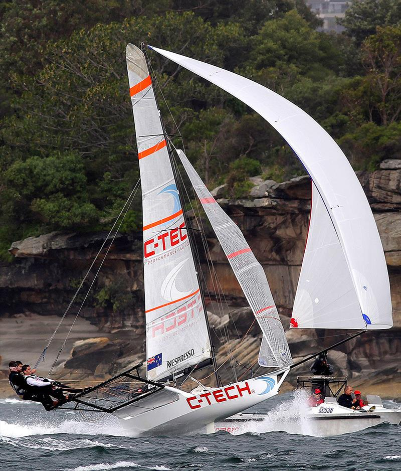 New Zealand's 18ft Skiff Racing Record: C-Tech skipper Alex Vallings has been a leading Kiwi contender for the past decade - photo © Frank Quealey