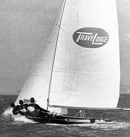 1974 Giltinan world champion TraveLodge New Zealand photo copyright Archive taken at Australian 18 Footers League and featuring the 18ft Skiff class