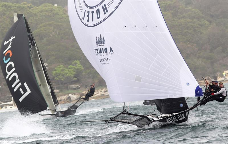 The Oak Double Bay-4 Pines leads Finport Finance into the bottom mark during the Nationals - photo © Frank Quealey