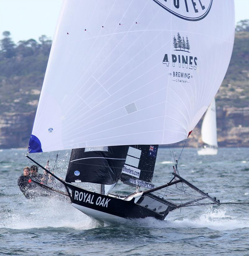 The Oak Double Bay-4 Pines shows winning form during race 1 of the 18ft Skiff Spring Championship - photo © Frank Quealey
