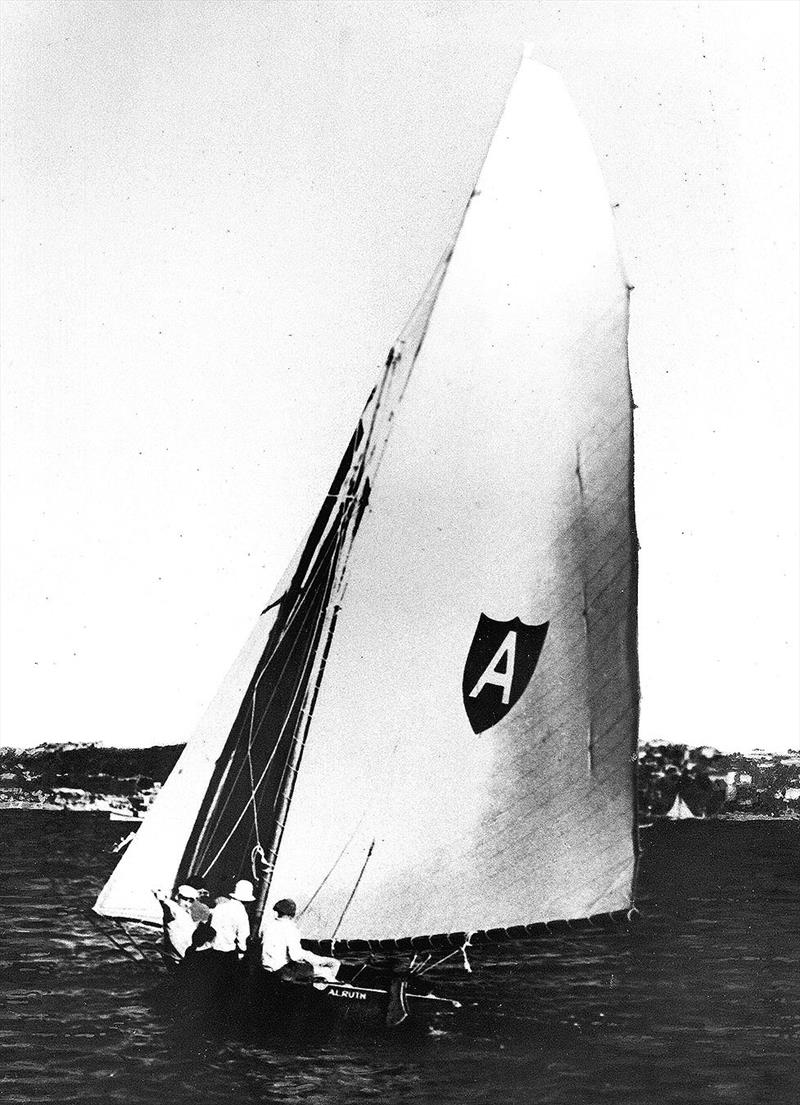 Alf Beashel's Alruth in the 1950s photo copyright Archive taken at Australian 18 Footers League and featuring the 18ft Skiff class