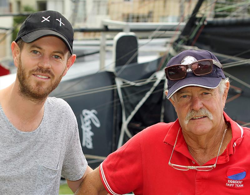 John 'Woody'Winning with his son John Winning Jr, skipper of Winning Group - photo © Frank Quealey