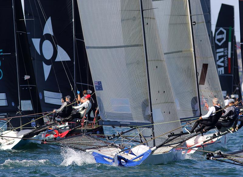The start of 18ft Skiff Spring Championship Race 6 - photo © Frank Quealey
