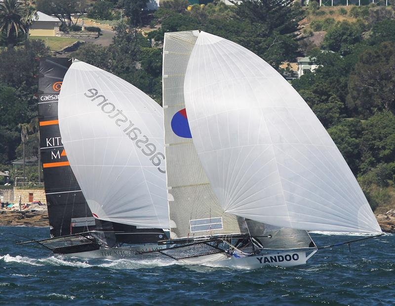 Spring champion Yandoo in spinnaker action with the young The Kitchen Maker-Caesarstone team - photo © Frank Quealey