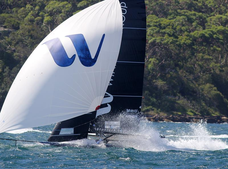Winning Group at top speed during 3 of the 18ft Skiff Australian Championship - photo © Frank Quealey