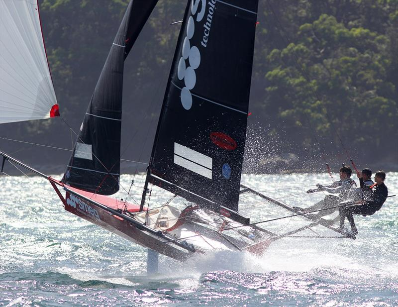 Smeg chases the leader during race 3 of the 18ft Skiff Australian Championship - photo © Frank Quealey