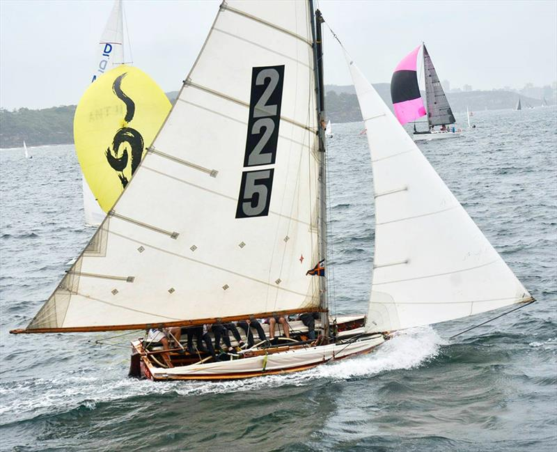 THE MISTAKE, skippered by John Winning, won the last race of the Australian Historical 18s Championship - photo © MVS