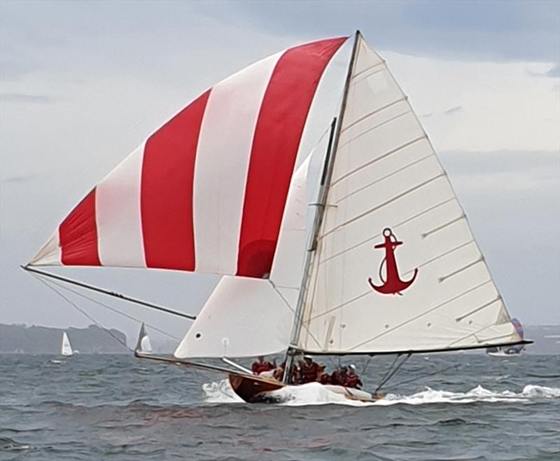 YENDYS on a North East spinnaker run during the Australian Historical 18s Championship - photo © Wayne G