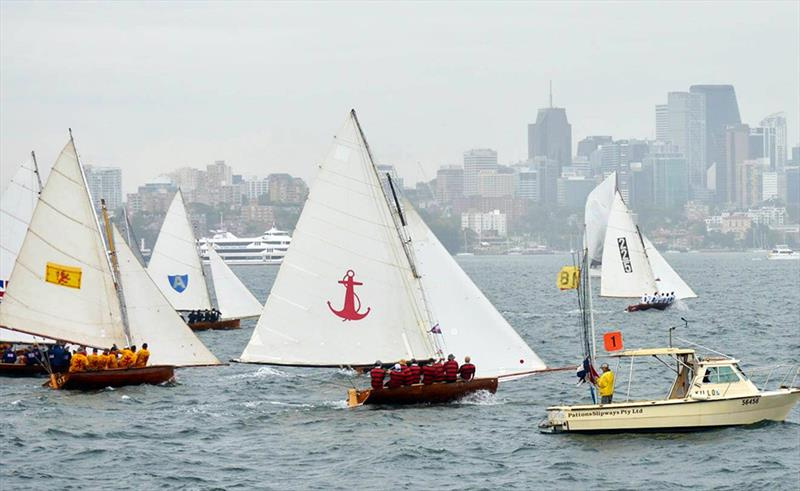 The start of last Saturday's race at the Australian Historical 18s Championship - photo © MVS