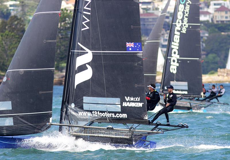 18ft Skiff JJ Giltinan Championship day 1: Yandoo Winning Group at speed despite the race incident - photo © Frank Quealey